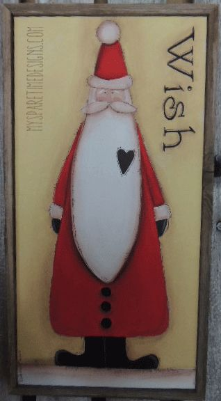 My Spare Time Designs mixed media Santa Canvas