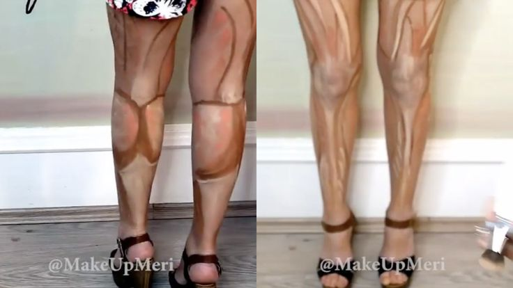 "FORGET SPRAY TAN! ~ The next BIG thing is ""Leg Contouring"" ~ From the post, ""People are now contouring their legs. We have ALL wished our legs could look a little less chunk and a little more KAPOW when we walk out and about, and we have ALL seen what contouring can do to make your face look thinner, so it was only natural that someone would put these two things together to bring us leg contouring.""  Wonder how this would work for Irish dancers..."