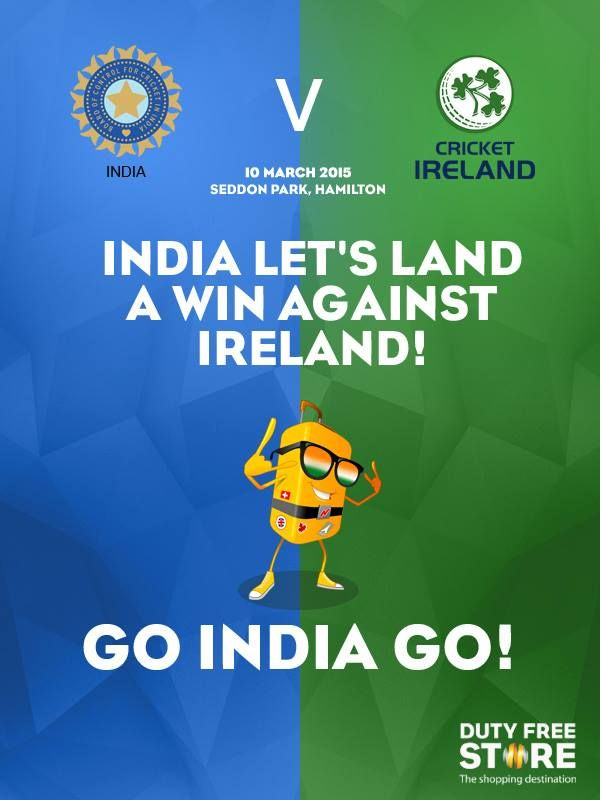 Let's paint the match Blue India! ‪#‎WC2015‬