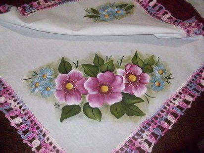 Imagenes flores pintadas en tela imagui dibujos pinterest search and tela - Flores de telas hechas a mano ...