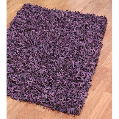 St. Croix Pelle Leather Purple Area Rug & Reviews | Wayfair