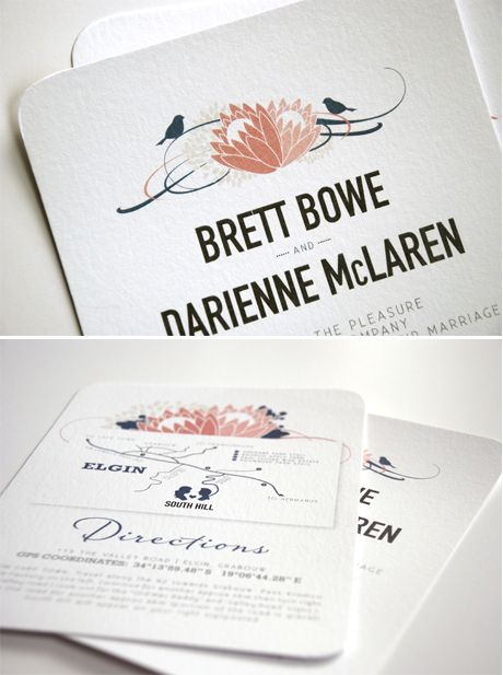 Stationery - Categories - Blog - Seven Swans Wedding Stationery  Love the typeface