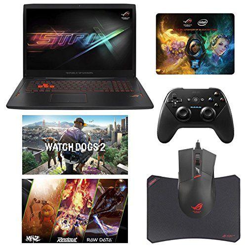 """ASUS ROG STRIX GL702VM-DB74 (i7-6700HQ, 16GB RAM,1TB SATA SSD + 1TB HDD, NVIDIA GTX 1060 6GB, 17.3"""" Full HD, Windows 10) Gaming Notebook. Display: 17.3"""" Full HD (1920 x 1080) Anti-Glare Display w/ NVIDIA® G-Sync   Graphics Card: NVIDIA® GeForce® GTX 1060 6GB GDDR5 (VR Ready). Processor: 6th Gen Intel® Skylake Core i7-6700HQ Quad Core (2.6GHz-3.5GHz, 6MB Intel® Smart Cache, 45W). RAM: 16GB DDR4 2133MHz   Hard Drive: 1TB SanDisk X400 SATA SSD (Seq. Read 545MB/s, Seq. Write 520MB/s) + 1TB..."""