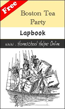 Boston Tea Party Lapbook - This free Boston Tea Party lapbook is a great addition to your American Revolution study of history.  It includes booklets about the Loyalists and Patriots, taxes, the Boston Massacre, and more.
