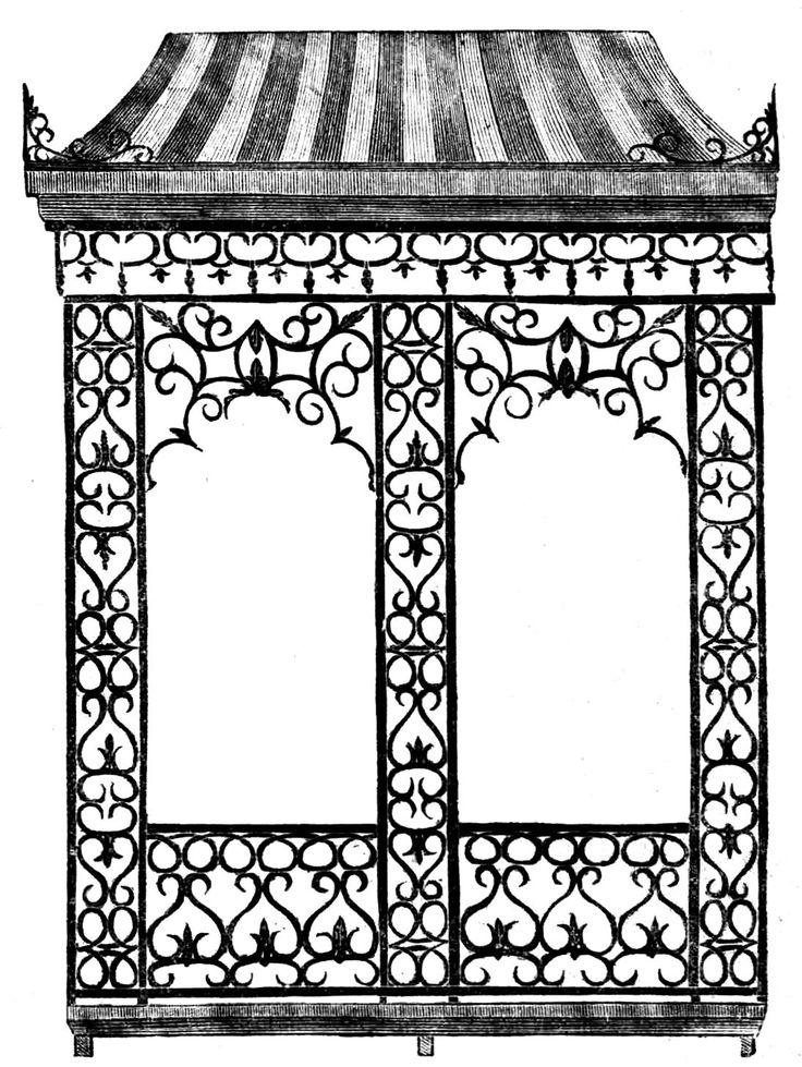 *The Graphics Fairy LLC*: Antique Image   Iron Garden Gazebo (atc  Background)