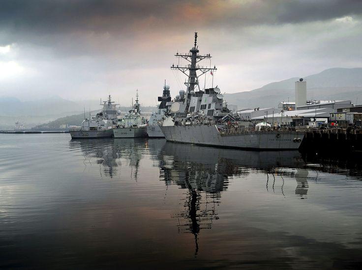 Ships gather in Faslane | Royal navy, Battleship, Royal ... Spanish Aircraft Carrier Prince Of Asturias