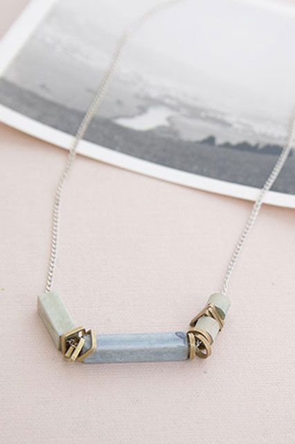 """""""12 No-Sweat Style Ideas For A Cool Commute #refinery29 http://www.refinery29.com/hot-weather-clothes#slide8 Dainty jewelry will keep your look polished but won't weigh you down. Go for minimalist pieces that will still make a statement."""""""