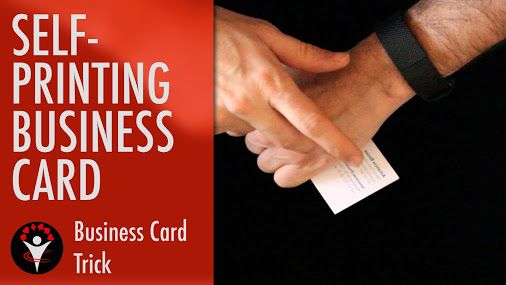 Tutorial on how to exchange business cards to stand out. This magic trick pretends to print your contact information right now on an empty business card