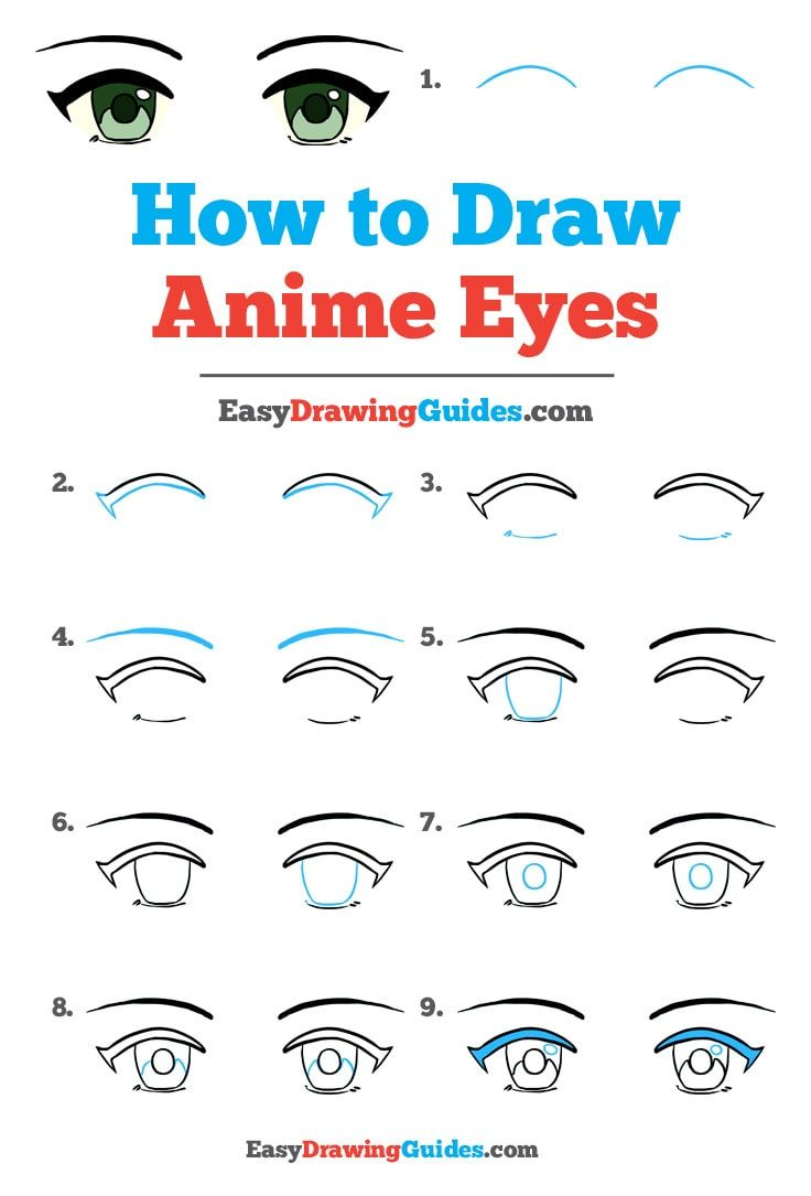 How To Draw Anime Eyes Really Easy Drawing Tutorial Anime Eye Drawing How To Draw Anime Eyes Drawing Tutorial Easy