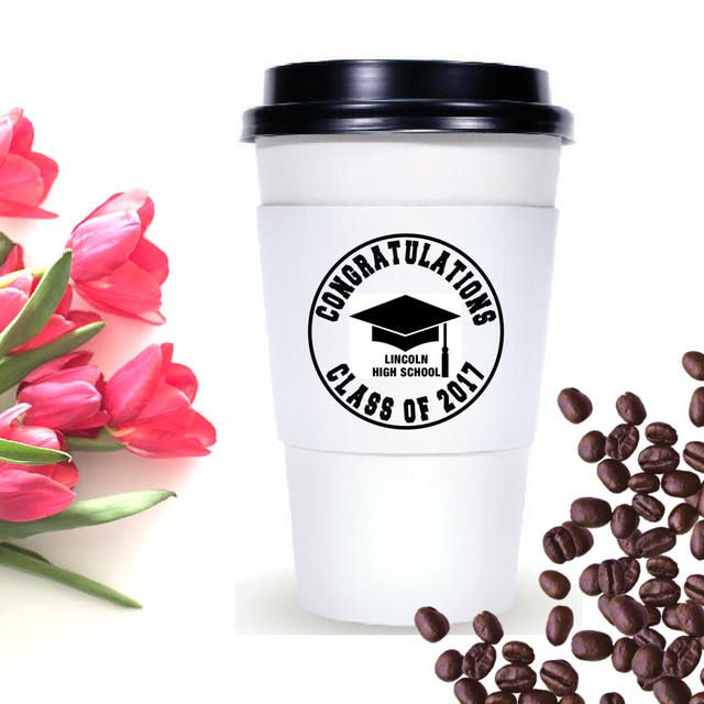 Graduation Coffee Sleeve Stamp | Custom Coffee Cup Stamp For Graduation | Custom Stamp For Coffee Cup Sleeves | Congratulation Class of 2017 by SouthernPaperAndInk on Etsy