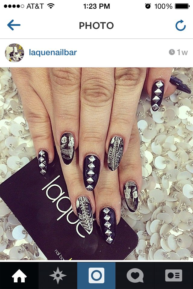 #Halloween #laquenailbar | Simple nail designs, Bling ...