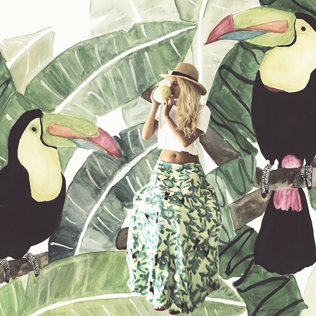 fashion and art. Illustration and water based inks . Sustainable fashion. fair trade