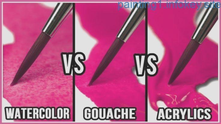 Was Ist Der Unterschied Zwischen Aquarell Gouache Acrylfarbe