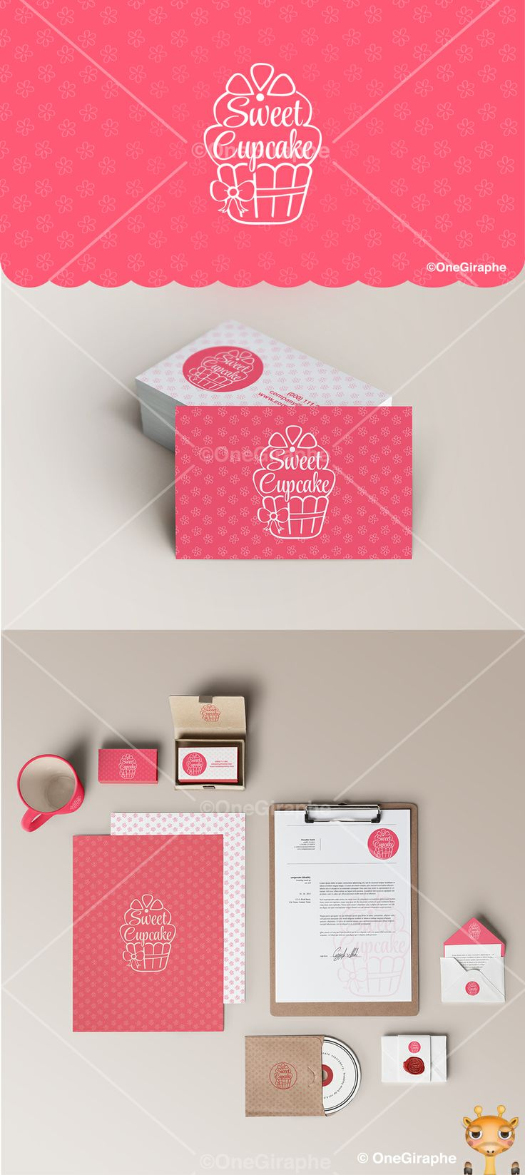 Sweet Cupcakes logo for sale! Contact me at: onegiraphe@gmail.com #cake #cupcake #bake #bakery #pink #store #woman #lady #logo #logodesign #design #graphic #graphicdesign #brand #identity #brandidentity