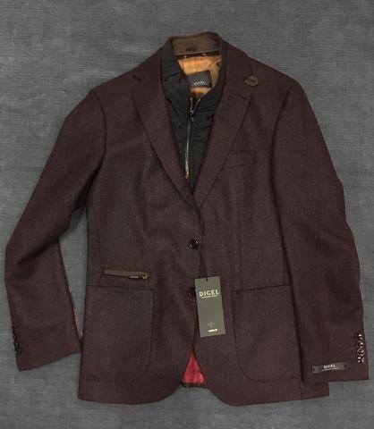 Digel - Earl- Veston de laine Easywear - Rouge