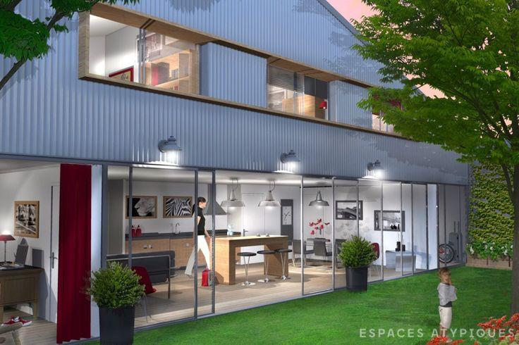 bordeaux ancien garage transform en duplex avec patio. Black Bedroom Furniture Sets. Home Design Ideas