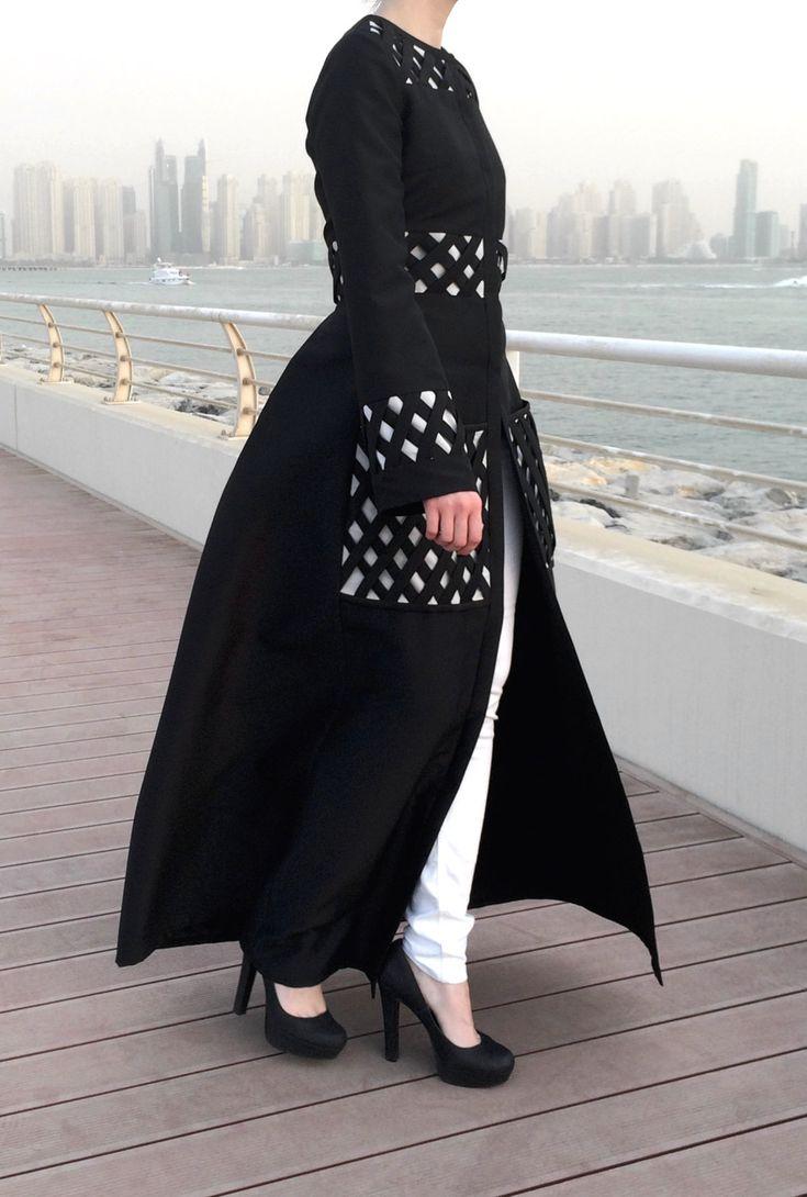 Criss-Cross Pockets Abaya - Black by LanaLik on Etsy