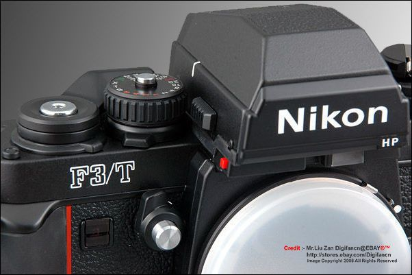 Nikon F3/T Black body with HP (high eyepoint finder)