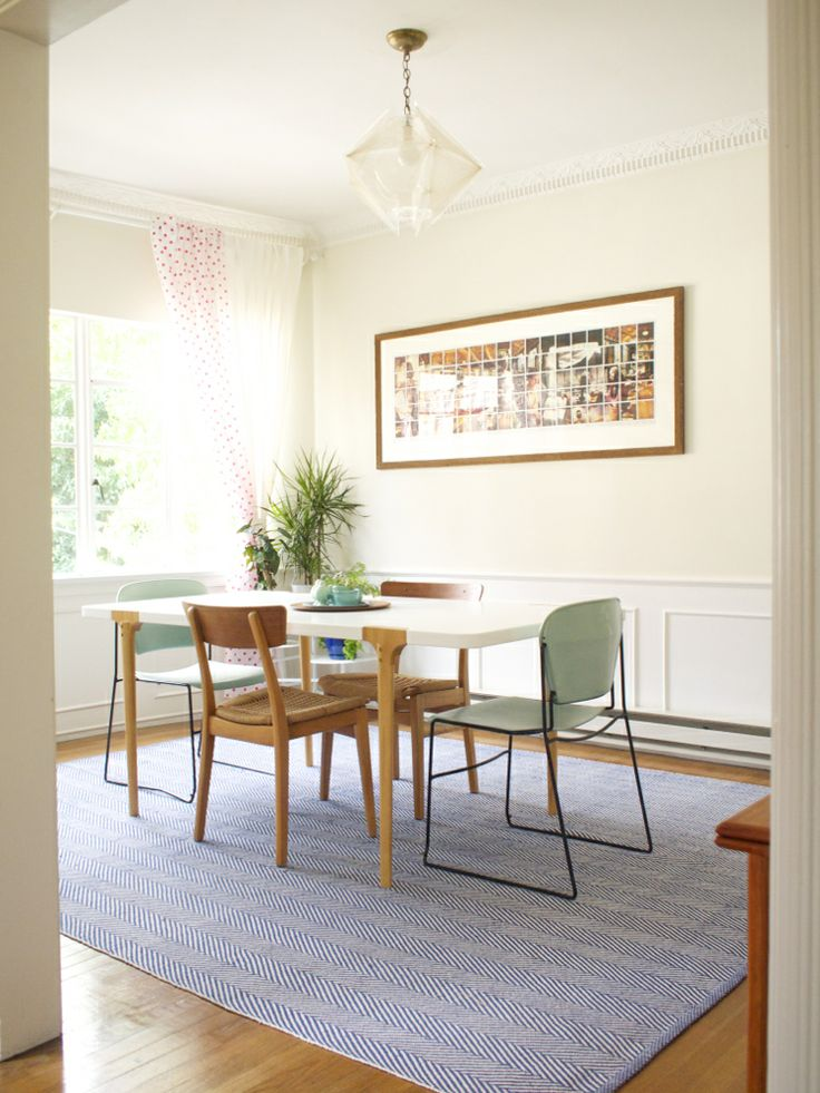 Our dining room. CB2 table.