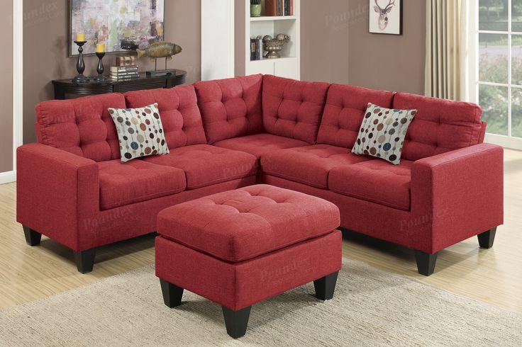 Poundex 4-Pcs Modular Sectional Sofa F6936 For $587
