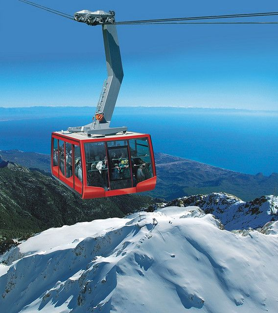 Tahtali mountain-Kemer teleferic in Antalya, Turkey