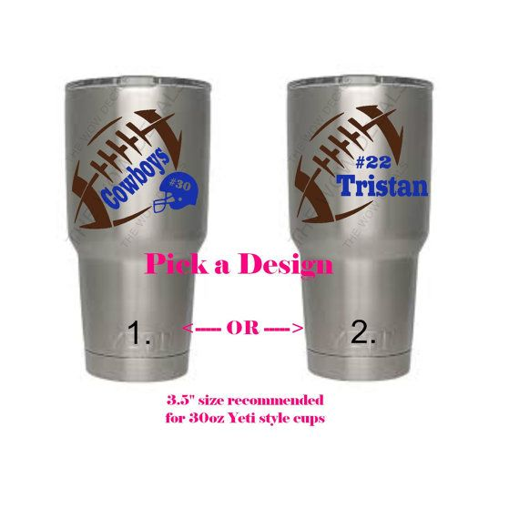 Best Decals Images On Pinterest Vinyl Projects Vinyl Crafts - Football custom vinyl decals for cars