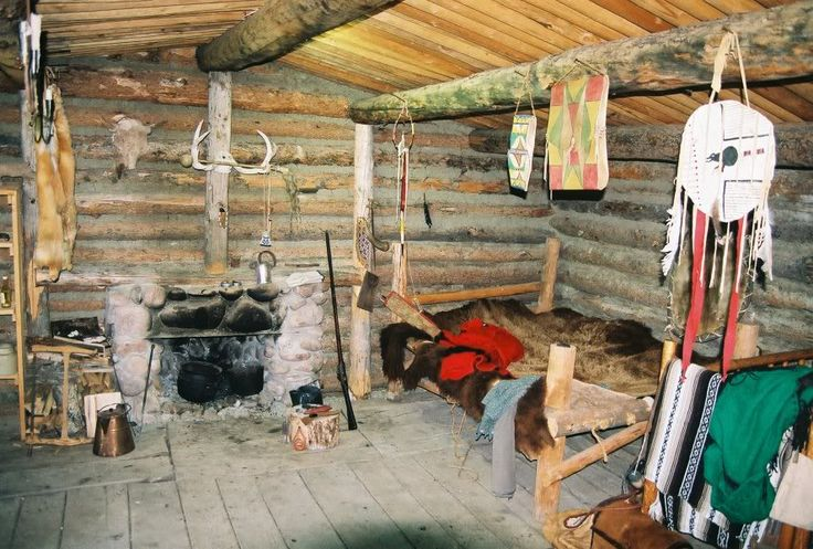 mountain man/fur trappers winter cabin