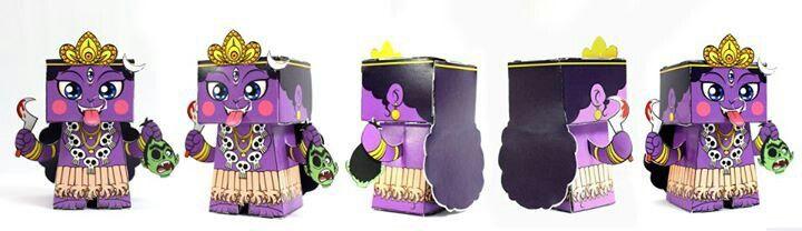 Kali mata paper toy
