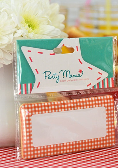 SHOP Party Mama www.partymama.com.au/sticker-name-tags-red-gingham-sticker-name-tag-set-p-24.html Red Kids Party Ideas | Red Gingham Sticker Name Tags- Set of 15 $6.95