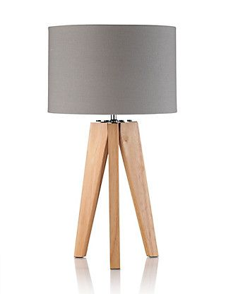 Grey Modern Tripod Table Lamp Home