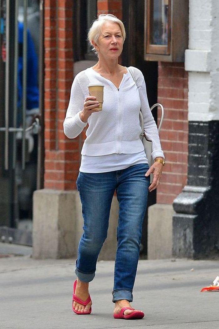 Helen Mirren in Blue Jeans