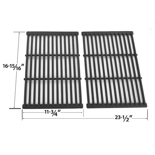 2 PACK CAST IRON REPLACEMENT COOKING GRID FOR GRILL ZONE 810-4415-T, GRILL CHEF SS525-B, MEMBERS MARK REGAL04CLP AND BBQ PRO BQ51011 GAS GRILL MODELS Fits Compatible Grill Zone Models : 810-4415-T, 810-6440-T, 810-6650-T, 810-6670-T Read More @http://www.grillpartszone.com/shopexd.asp?id=33993&sid=17429