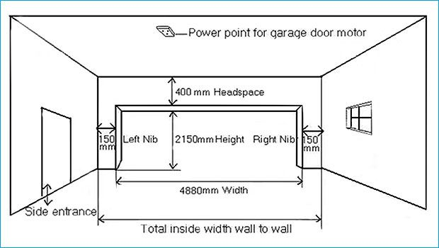 Garage Door Sizes, What Is The Standard Size Of A Double Garage In South Africa