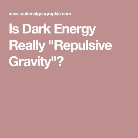 "Is Dark Energy Really ""Repulsive Gravity""?"