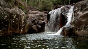 Uma das cachoeiras do complexo de Hidrolândia (Foto: Divulgação / TV Gazeta ES)