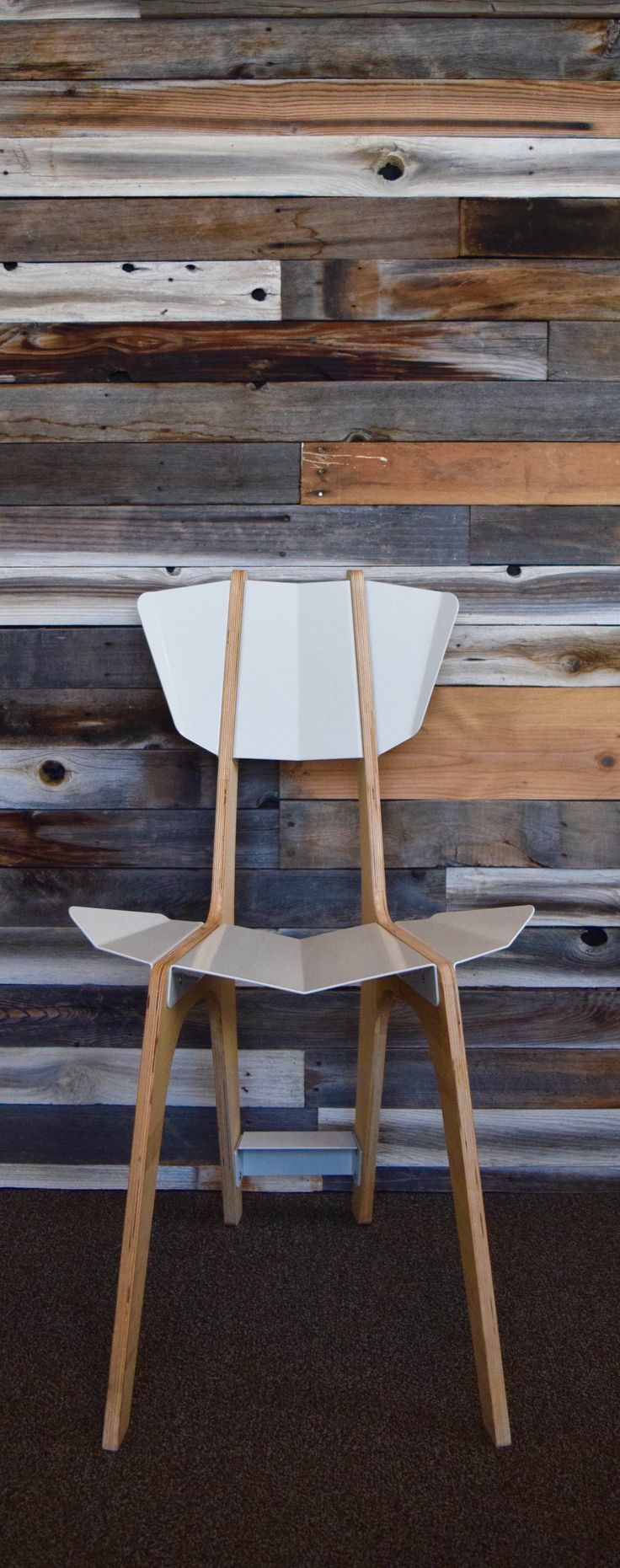 Desert Alchemy is a furniture design studio in Salt Lake City. This chair uses laser cut and bent sheet metal and CNC cut wood. Desert Alchemy is inspired by the colors of the desert and uses digital fabrication to bring its concepts to life. If you are an interior designer and would like to collaborate please visit our website.