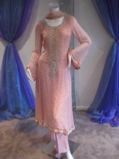 beautiful #kameez in baby pink