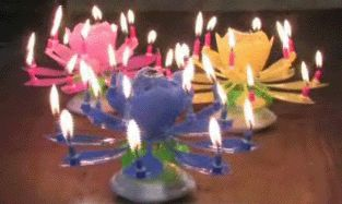 BIRTHDAY  SPARKLER FIREWORKS CANDLE CAKE TOPPER SEE IT ON YOU TUBE SEE DESCRIPTION FOR URL