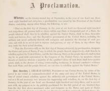 Emancipation Proclamation, 13th Amendment to hit the auction block