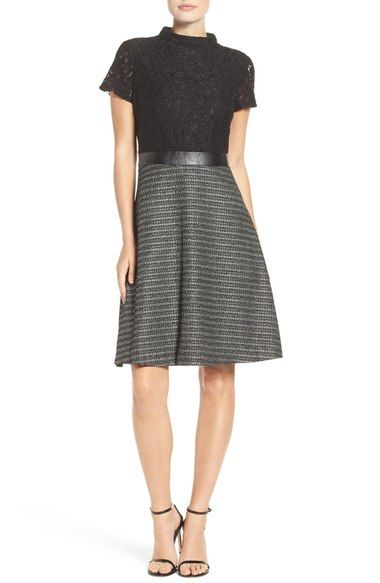 Ellen Tracy Fit & Flare Dress (Regular & Petite) available at #Nordstrom