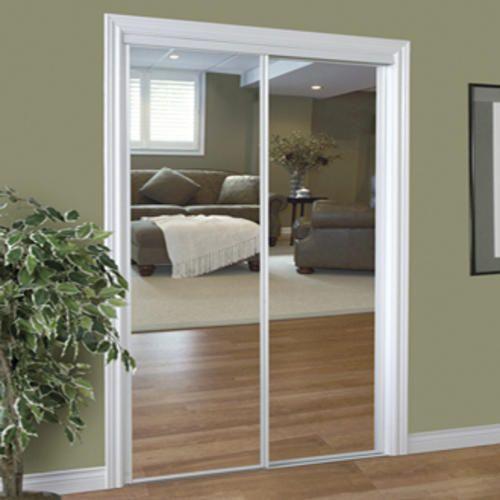 """Slimfold 72"""" x 96"""" Steel Framed Sliding Mirror Door at ..."""