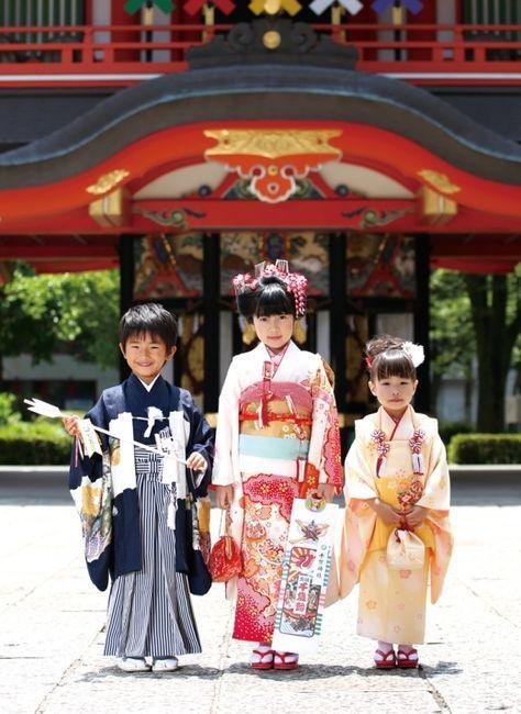 Shichi Go San - 7 5 3 千葉神社で七五三詣り 記念写真