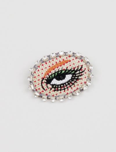 Venessa Arizaga Lazer Eye Brooch