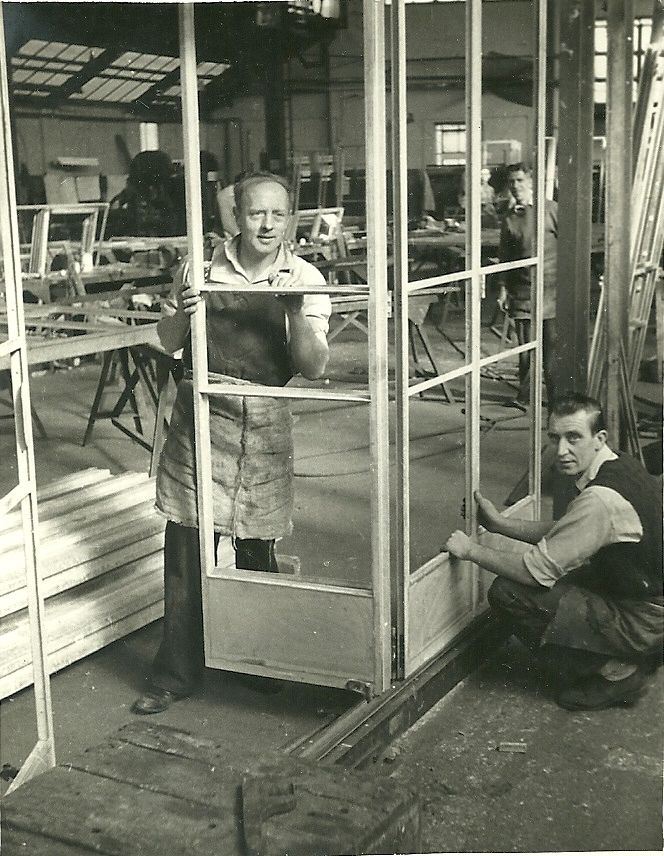 Crittall's window factory,Braintree,Essex in the Mid 50's.Critall's was the first metal window frame factory in the world.
