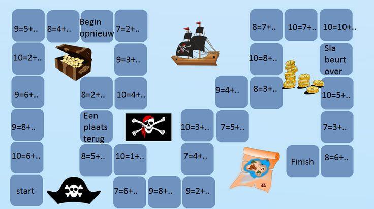 Ganzenbord rekenen groep 3 - Digibord Onderbouw