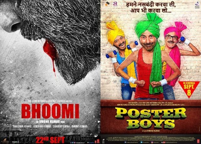 "Old Bollywood Actors Sanjay Dutt and Sunny Deol are ready with their upcoming movies. Sanjay Dutt Starring In Omung Kumar's Bhoomi. Sunny Deol is ready to deliver new film ""Poster Boys"" with his brother Bobby Deol & Shreyas Talpade. Poster Boys is the remake of marathi movie ""Poster Boys""."