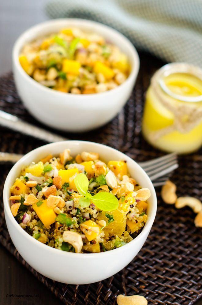 Cashew, Orange, & Mango Quinoa Salad