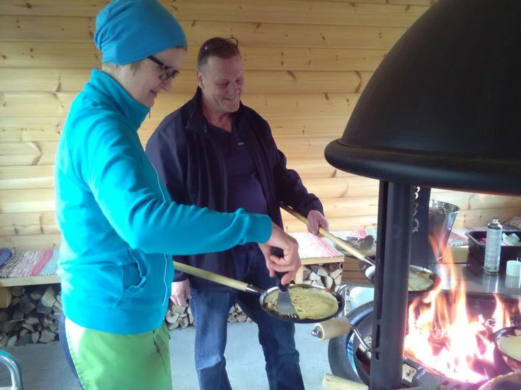 Kesäiset juustomaitolettukestit on vietetty juvakodin pihalla! Jukka letun paistossa!