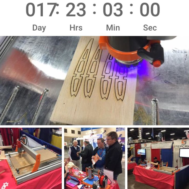 """Countdown to the 63rd Annual R/C Expo Toledo, OH April 7, 8, 9, 2017 •PLAN a road TRIP and MEET us there! """"North America's largest and longest running R/C model expo...3 day event showcases all types of R/C models including planes, cars, boats.. R/C model competition, speakers, swap shop, auction...fun for the whole family."""" Read more ...  http://www.toledoshow.com #RC #rccontroled #maker #design #STEPCRAFT #stepcraftcnc #ThinkItMakeIt"""