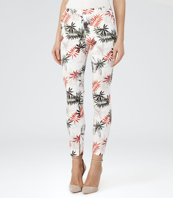 Reiss White/multi Printed Trousers